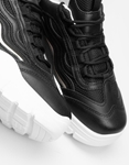 Εικόνα από Γυναικεία sneakers μονόχρωμα Μαύρο/Λευκό