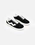 Εικόνα από Ανδρικά sneakers με λευκή ρίγα Μαύρο