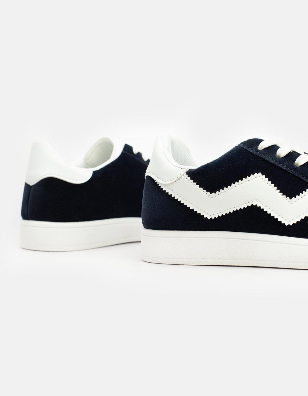 Εικόνα από Ανδρικά sneakers με λευκή ρίγα Navy