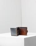 Εικόνα από Ανδρικά δερμάτινα πορτοφόλια μονόχρωμα Καφέ