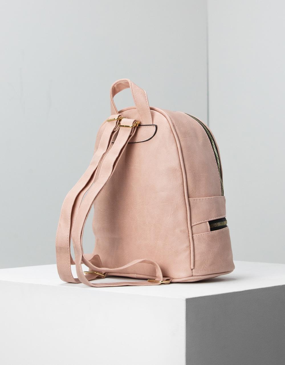 Εικόνα από Γυναικεία σακίδια πλάτης με φερμουάρ Ροζ