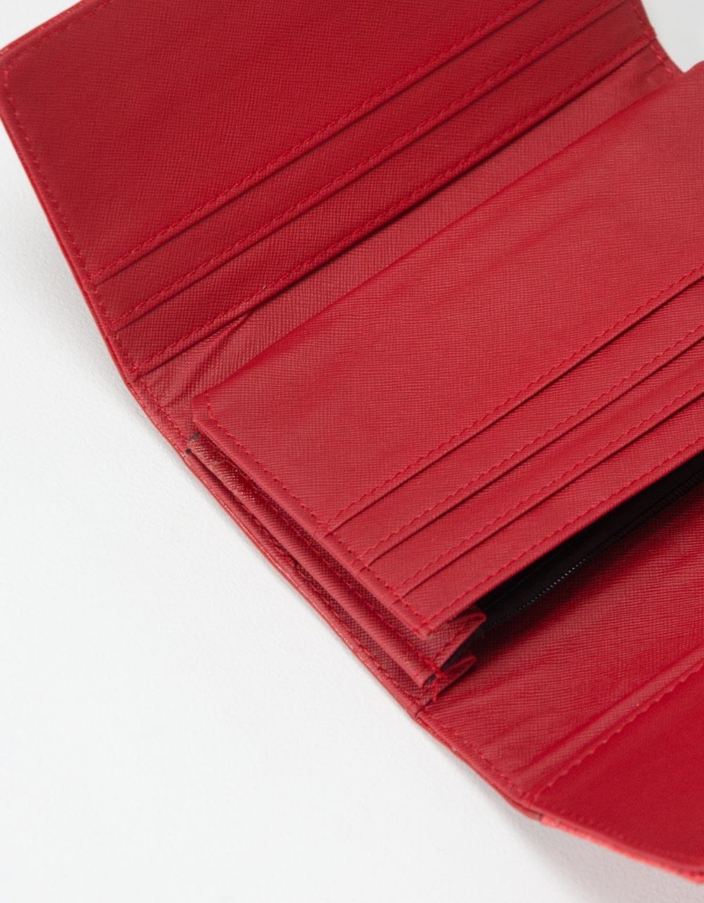 Εικόνα από Γυναικεία πορτοφόλια με ανάγλυφη λεπτομέρεια Κόκκινο