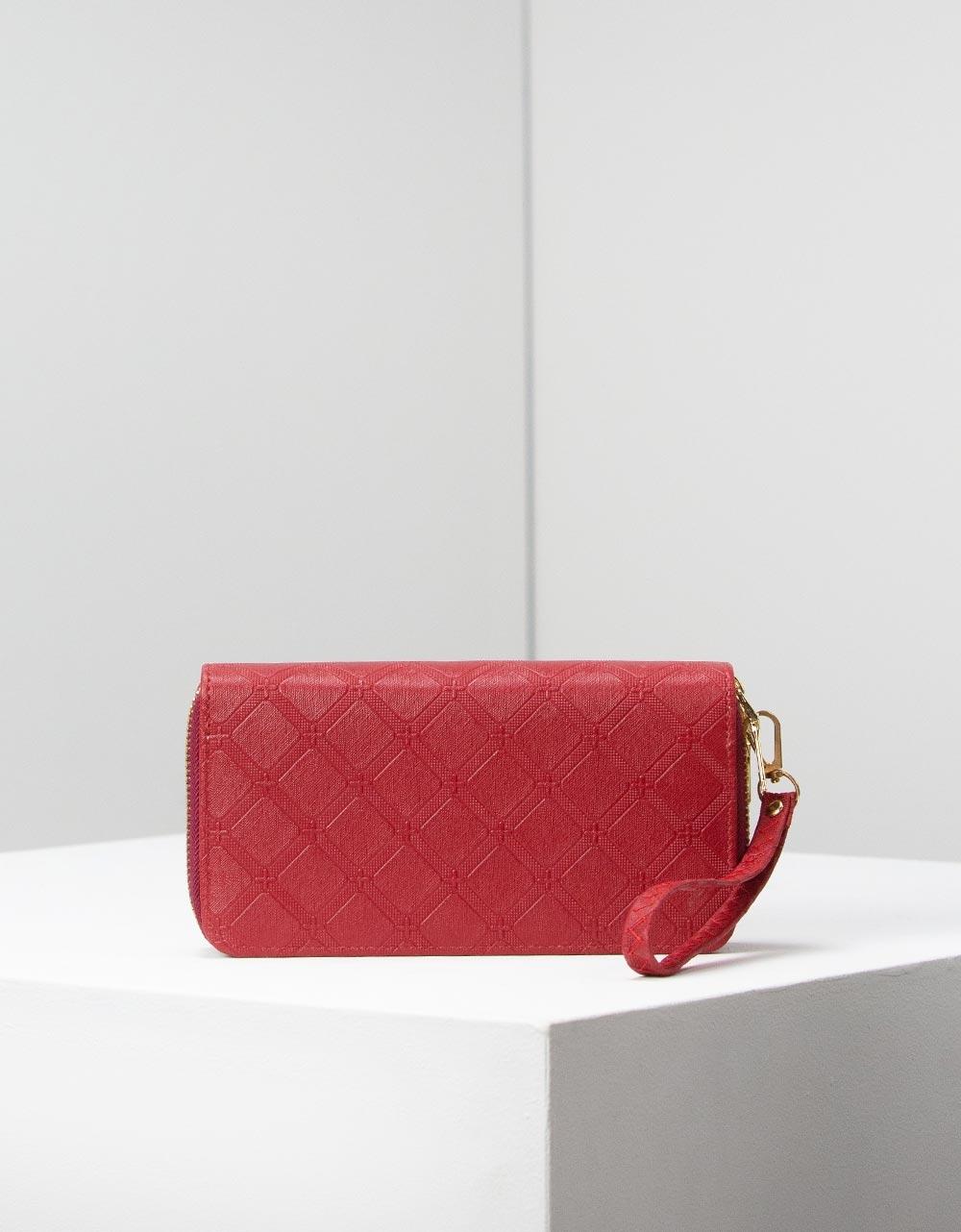 Εικόνα από Γυναικεία πορτοφόλια με φερμουάρ Κόκκινο