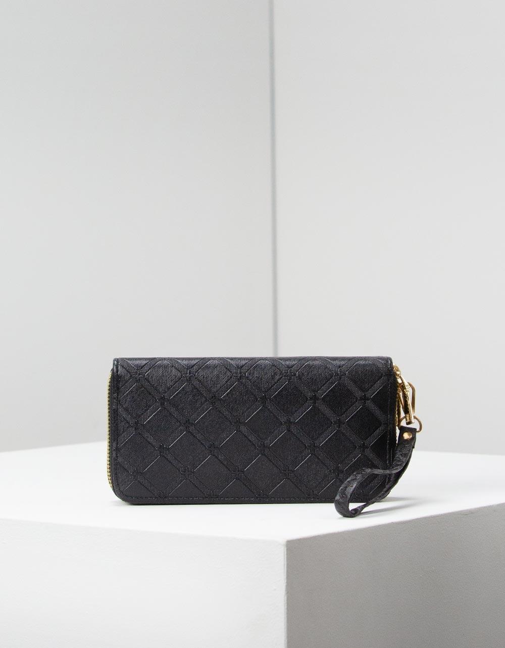 Εικόνα από Γυναικεία πορτοφόλια με φερμουάρ Μαύρο