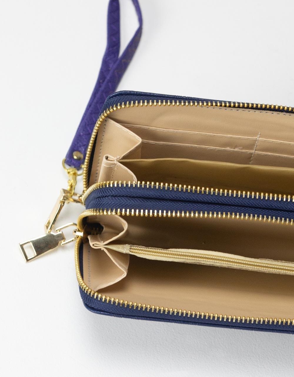 Εικόνα από Γυναικεία πορτοφόλια με φερμουάρ Navy