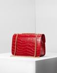 Εικόνα από Γυναικείες τσάντες ώμου με κροκό υλικό Κόκκινο