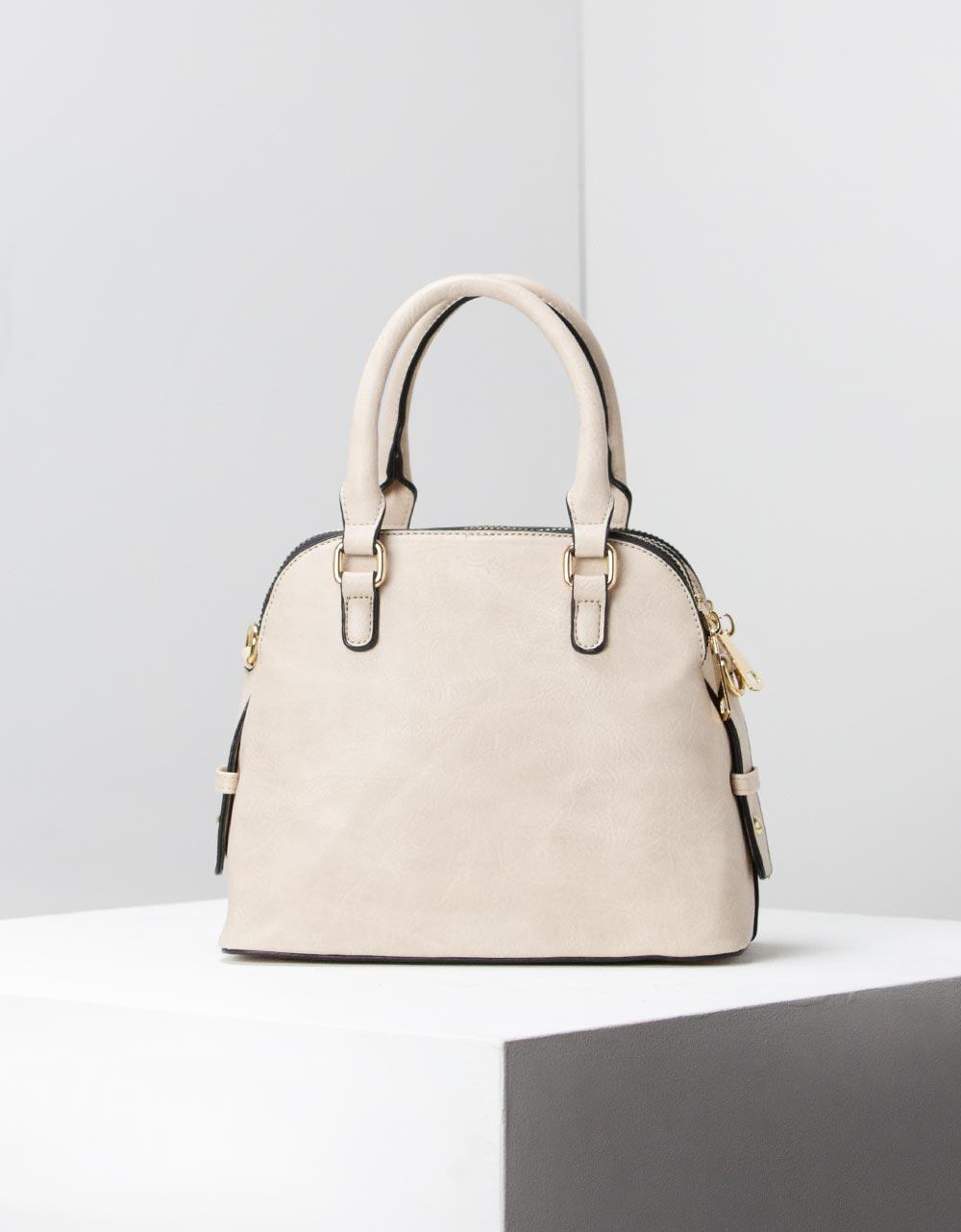 Εικόνα από Γυναικεία τσάντα ώμου μονόχρωμες Μπεζ
