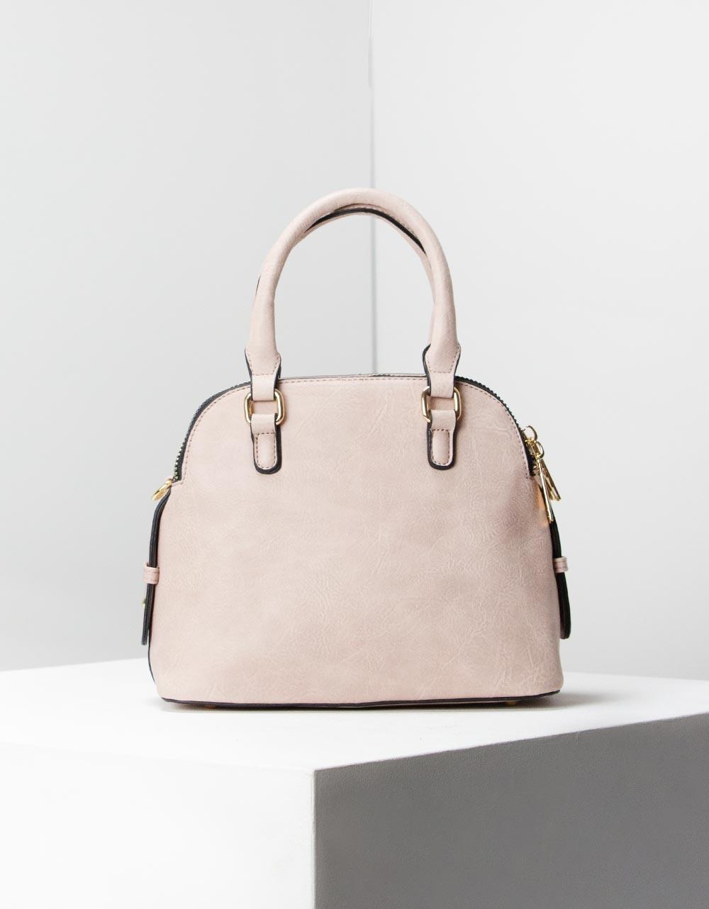 Εικόνα από Γυναικεία τσάντα ώμου μονόχρωμες Ροζ