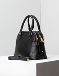 Εικόνα από Γυναικεία τσάντα ώμου μονόχρωμες Μαύρο