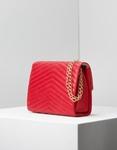 Εικόνα από Γυναικείες τσάντες ώμου με ραφές Κόκκινο