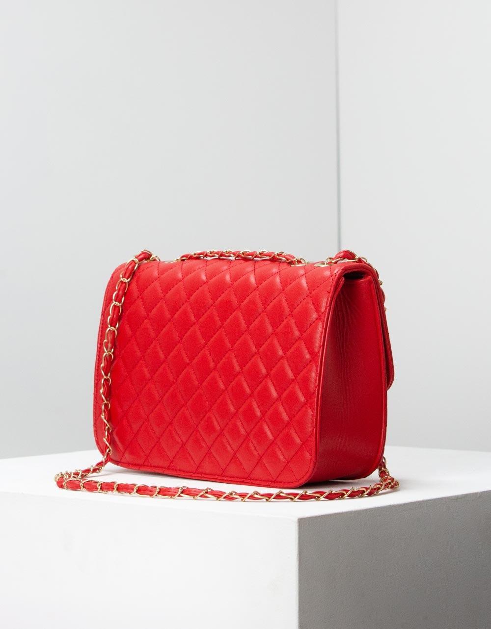 Εικόνα από Γυναικείες τσάντες ώμου καπιτονέ Κόκκινο