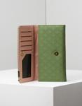 Εικόνα από Γυναικεία πορτοφόλια με ανάγλυφο σχέδιο Πράσινο
