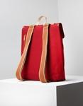 Εικόνα από Γυναικεία σακίδια πλάτης με καφέ δερμάτινα λουριά Κόκκινο