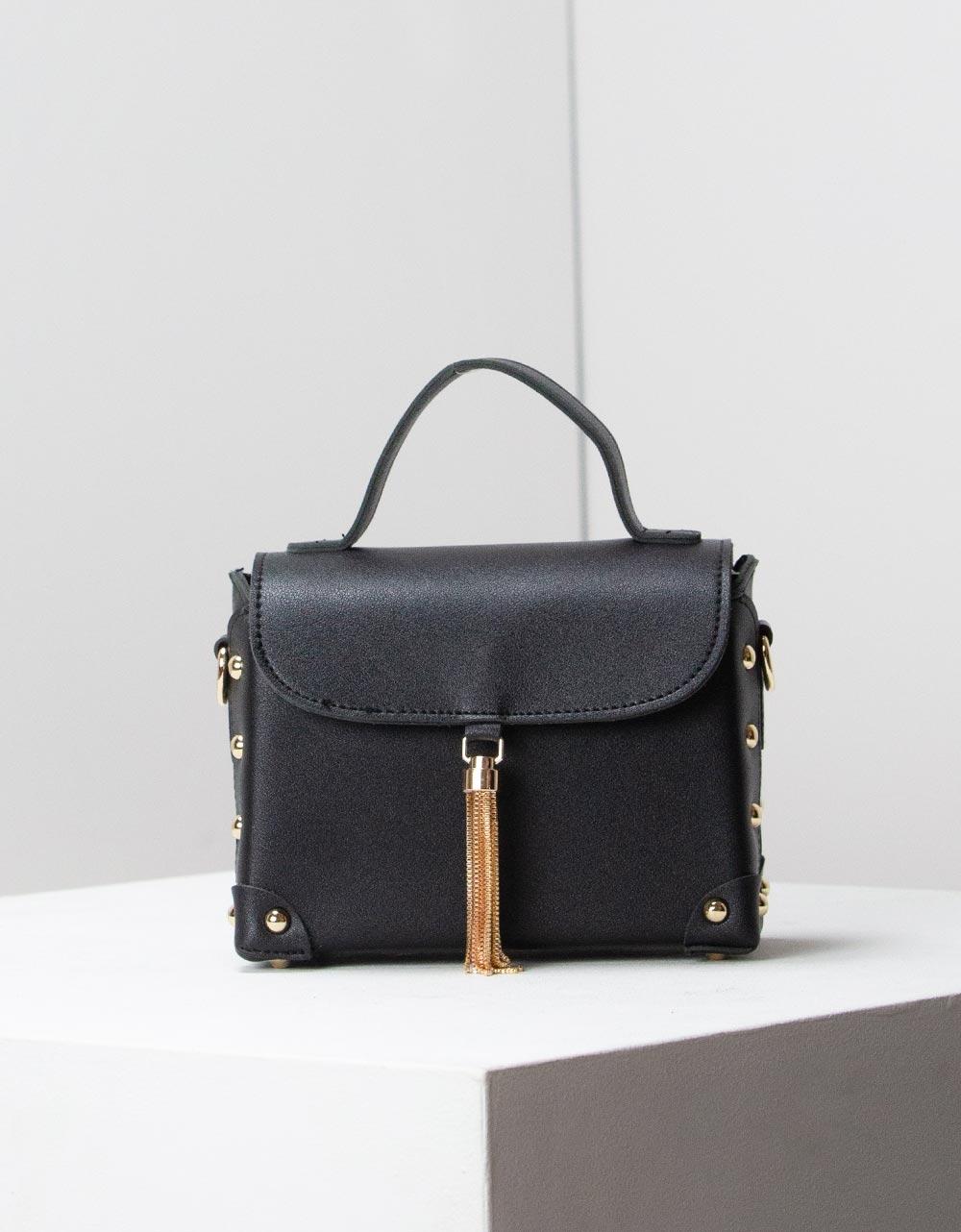 Εικόνα από Γυναικεία τσάντα ώμου με εξωτερική θήκη Μαύρο