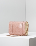 Εικόνα από Γυναικεία τσάντα ώμου με διακοσμητικά λουράκια Σομόν