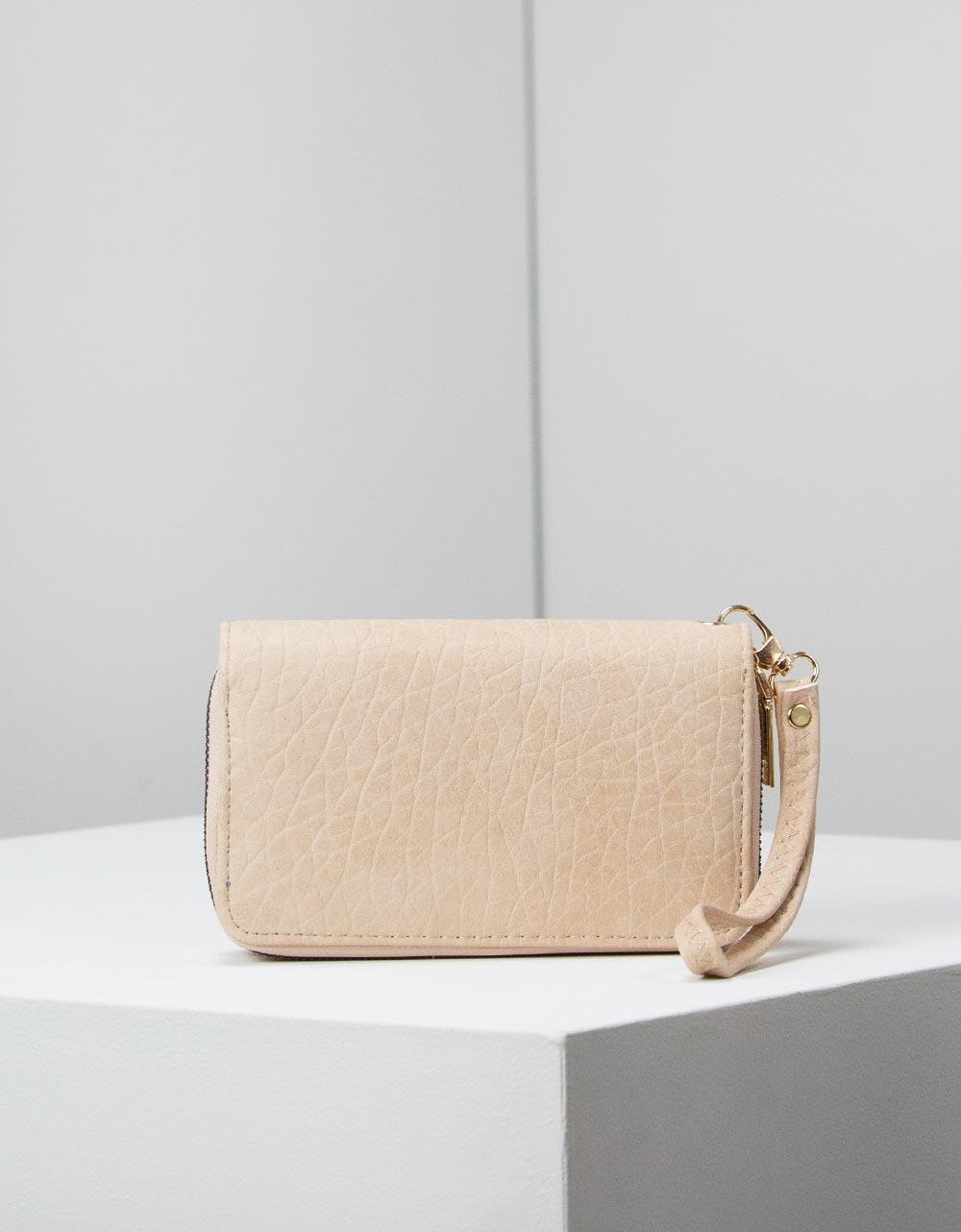 Εικόνα από Γυναικεία πορτοφόλια με κροκό σχέδιο Χρυσό