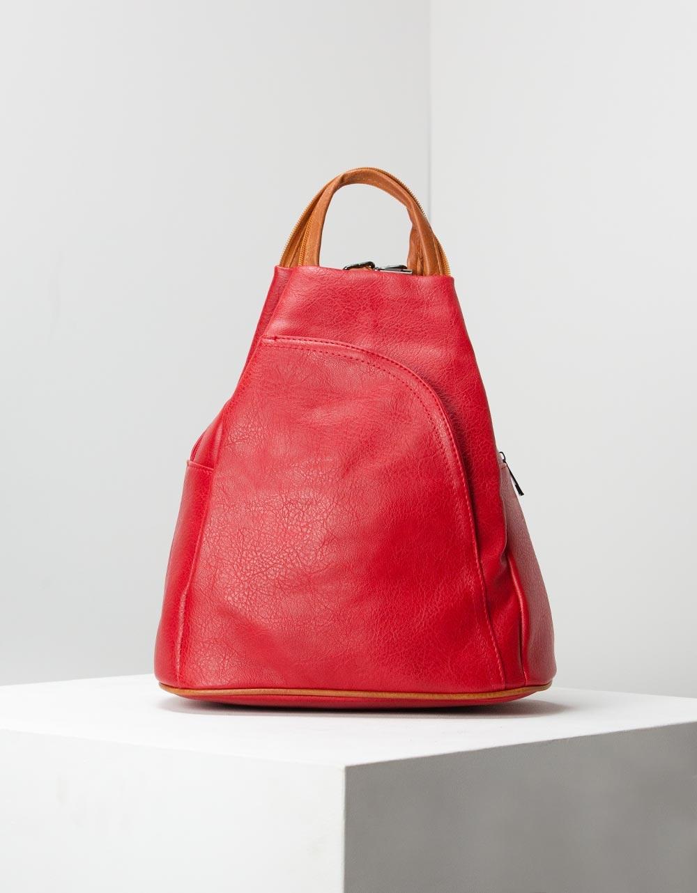 Εικόνα από Γυναικεία σακίδια πλάτης σε απλή γραμμή Κόκκινο