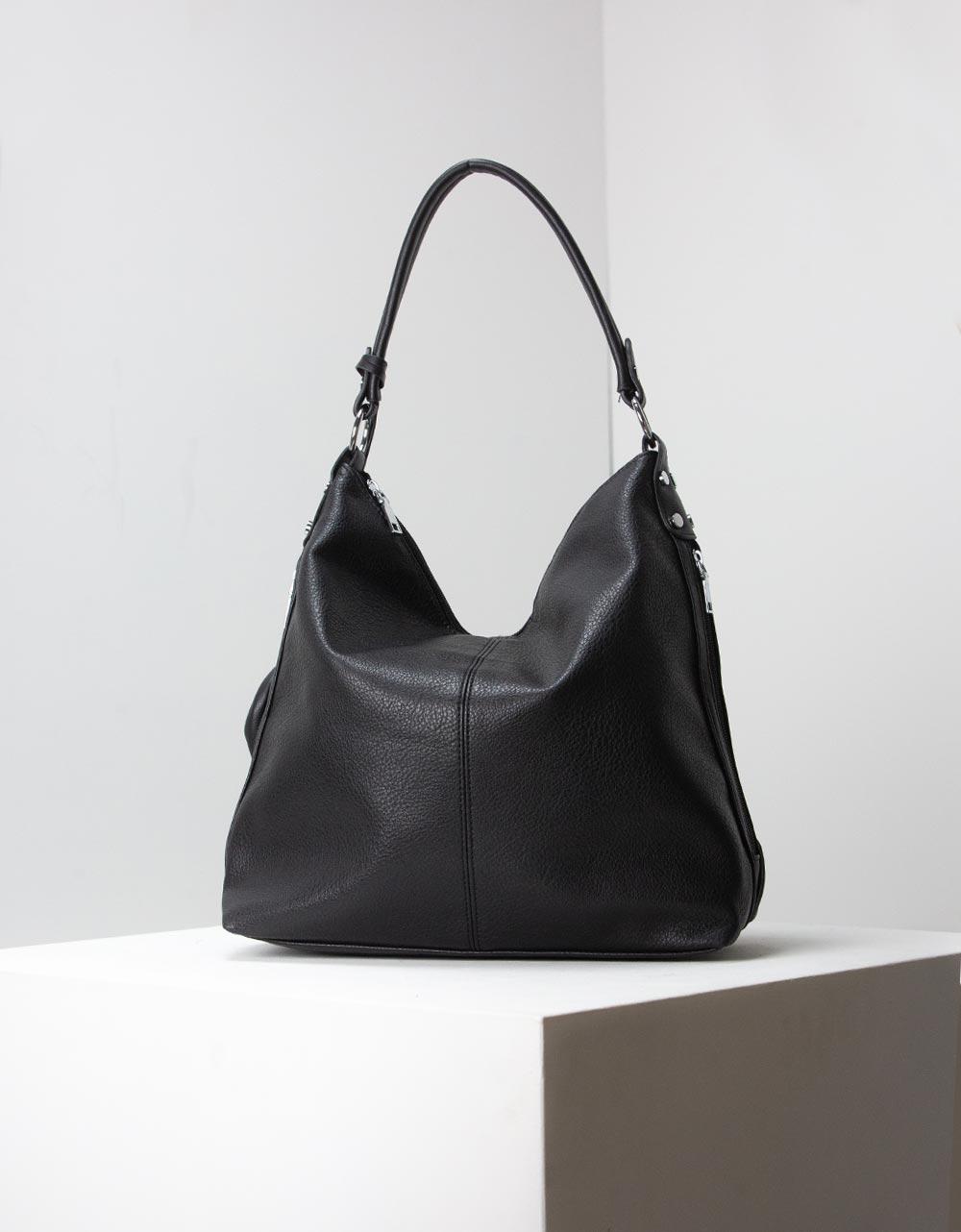 Εικόνα από Γυναικείες τσάντες ώμου χιαστί μονόχρωμες Μαύρο