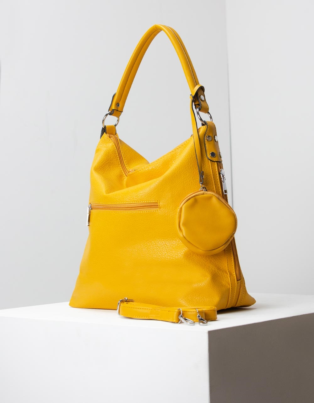 Εικόνα από Γυναικείες τσάντες ώμου χιαστί μονόχρωμες Κίτρινο