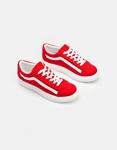 Εικόνα από Γυναικεία sneakers με δίχρωμη λεπτομέρεια Κόκκινο