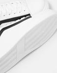 Εικόνα από Γυναικεία sneakers με δίχρωμη λεπτομέρεια Λευκό/Μαύρο