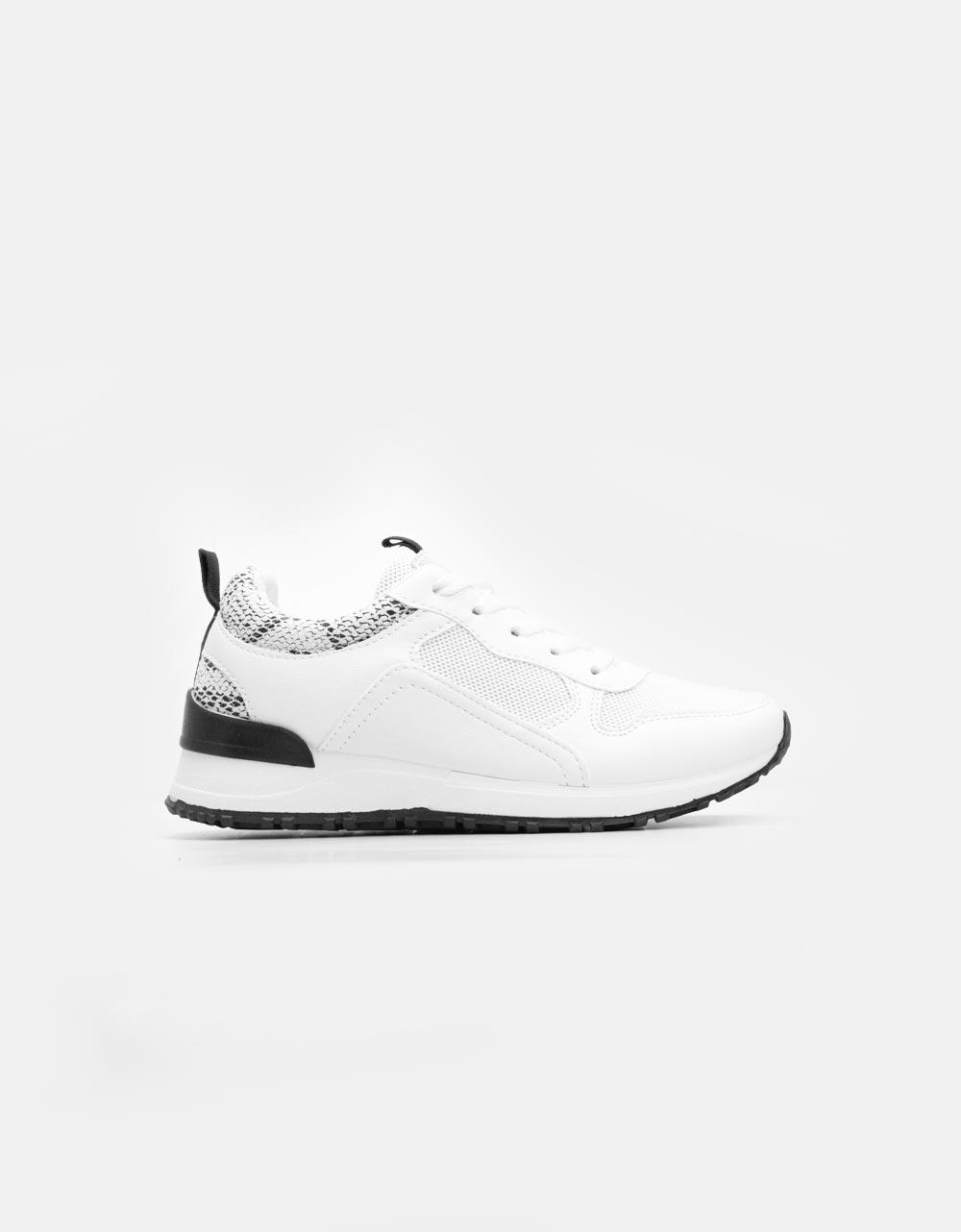 Εικόνα από Γυναικεία sneakers με δίχρωμο σχέδιο Λευκό
