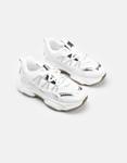 Εικόνα από Γυναικεία sneakers με δίχρωμο σχέδιο Λευκό/Ασημί