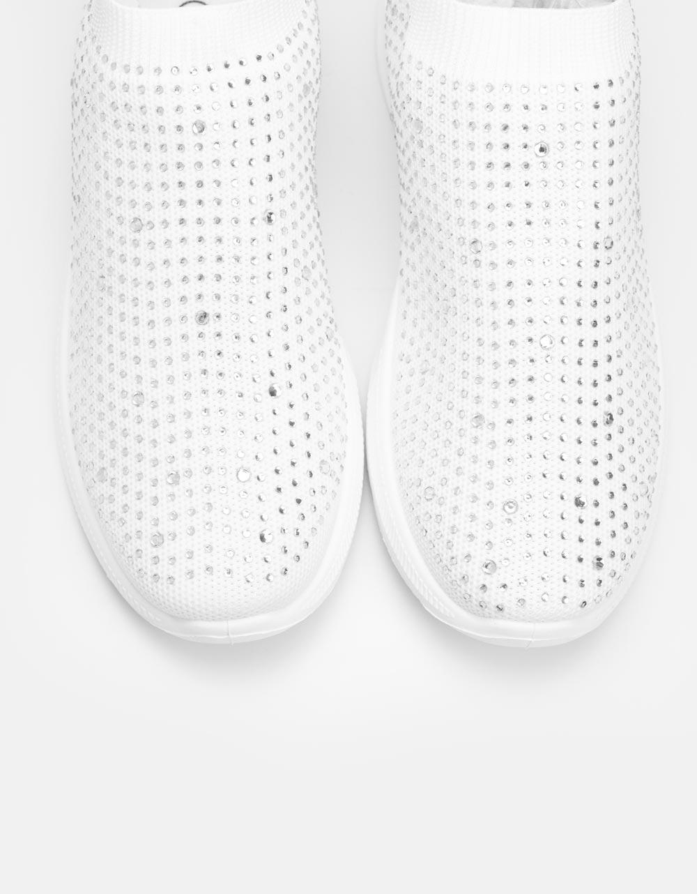 Εικόνα από Γυναικεία sneakers με στρας Λευκό