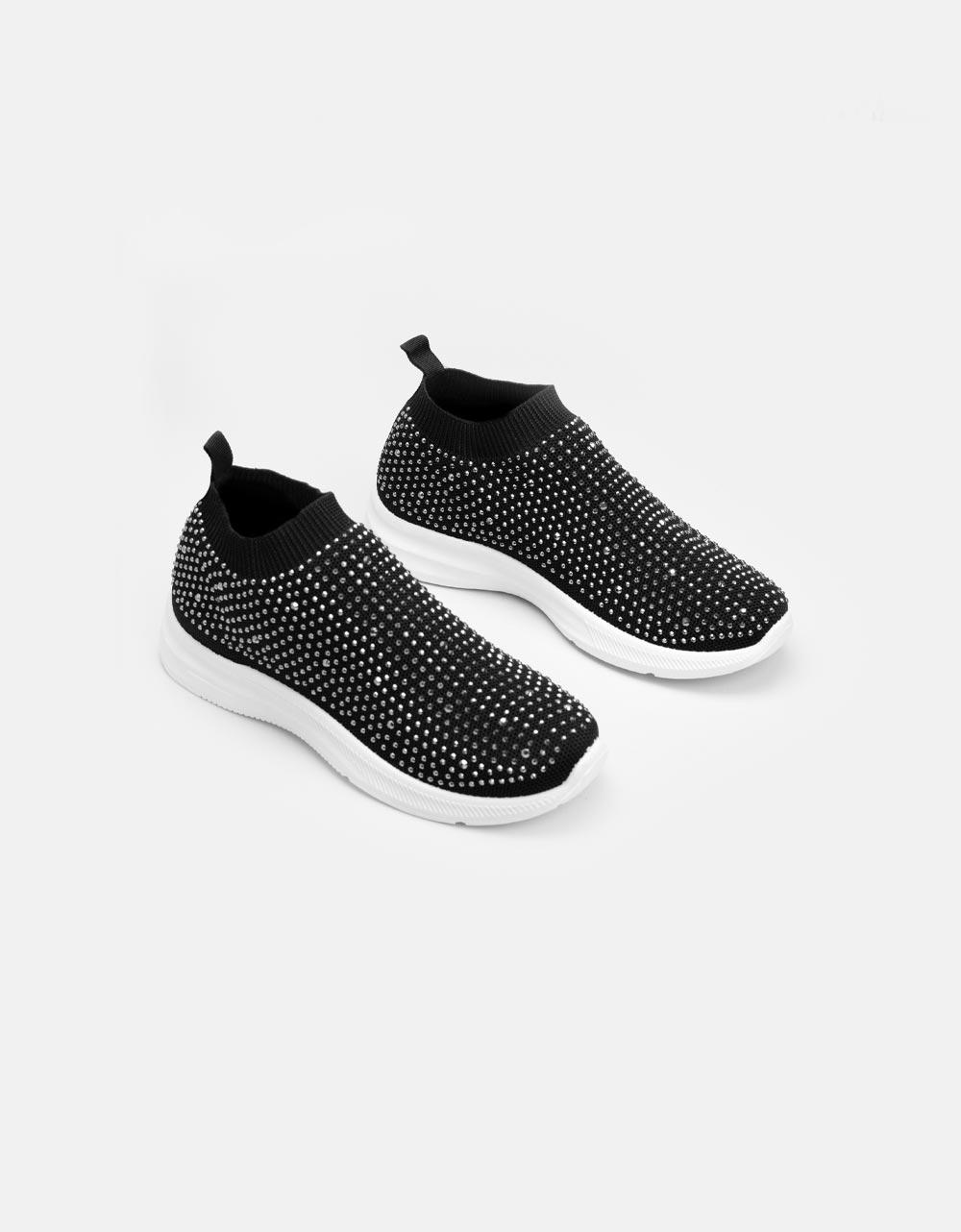 Εικόνα από Γυναικεία sneakers με στρας Μαύρο