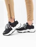 Εικόνα από Γυναικεία sneakers με ανάγλυφες λεπτομέρειες Μαύρο/Λευκό