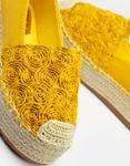 Εικόνα από Γυναικείες εσπαντρίγιες με ανάγλυφο σχέδιο Κίτρινο