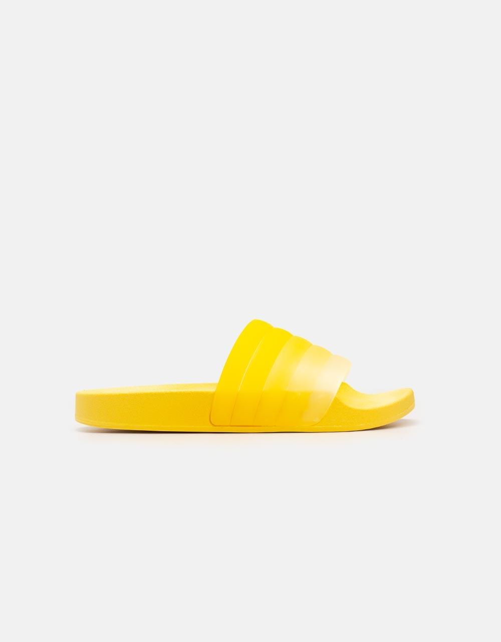 Εικόνα από Γυναικεία sliders με πολύχρωμη φάσα Κίτρινο