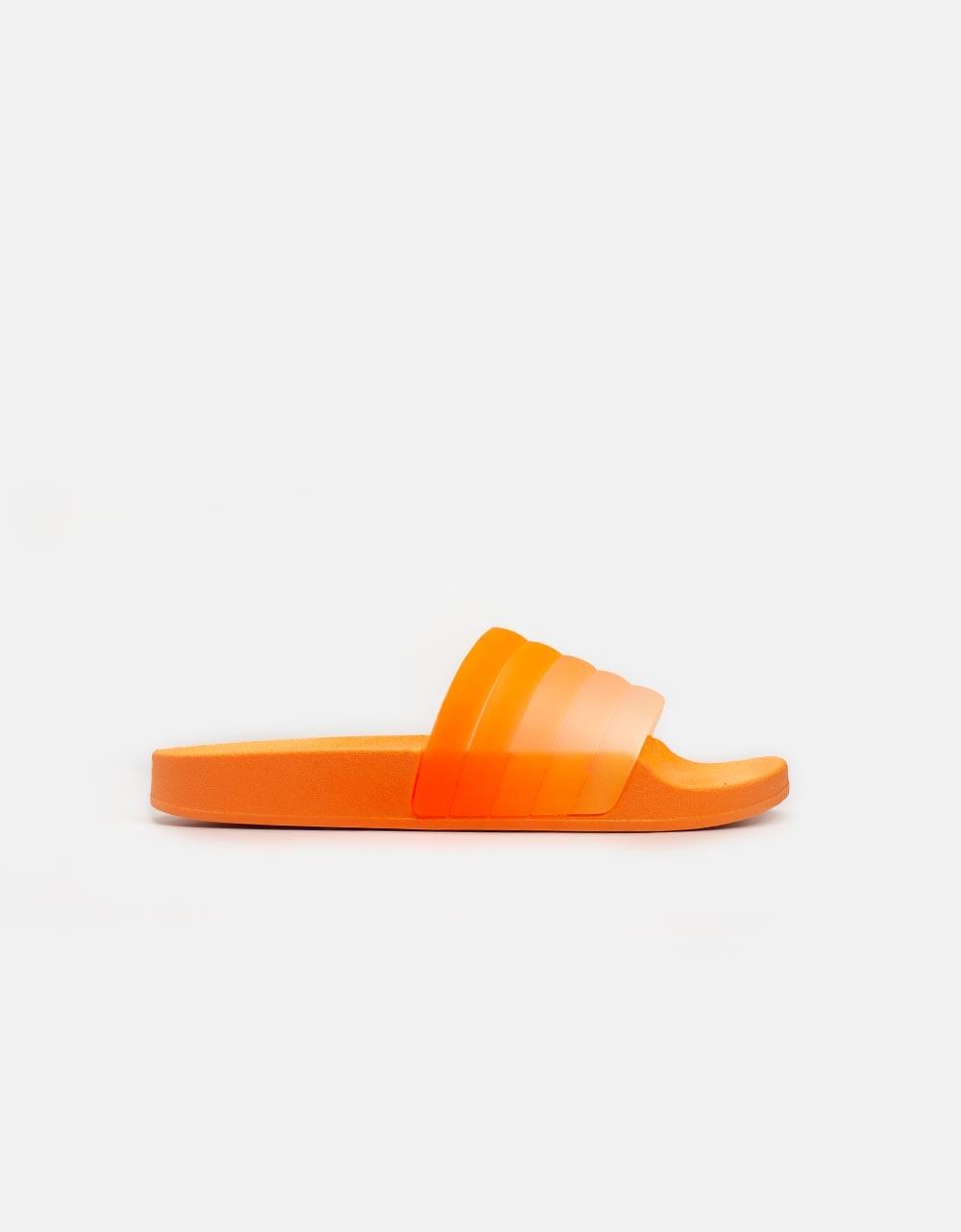 Εικόνα από Γυναικεία sliders με πολύχρωμη φάσα Πορτοκαλί