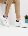 Εικόνα από Γυναικεία sneakers με ανάγλυφα σχέδια Λευκό/Μαύρο