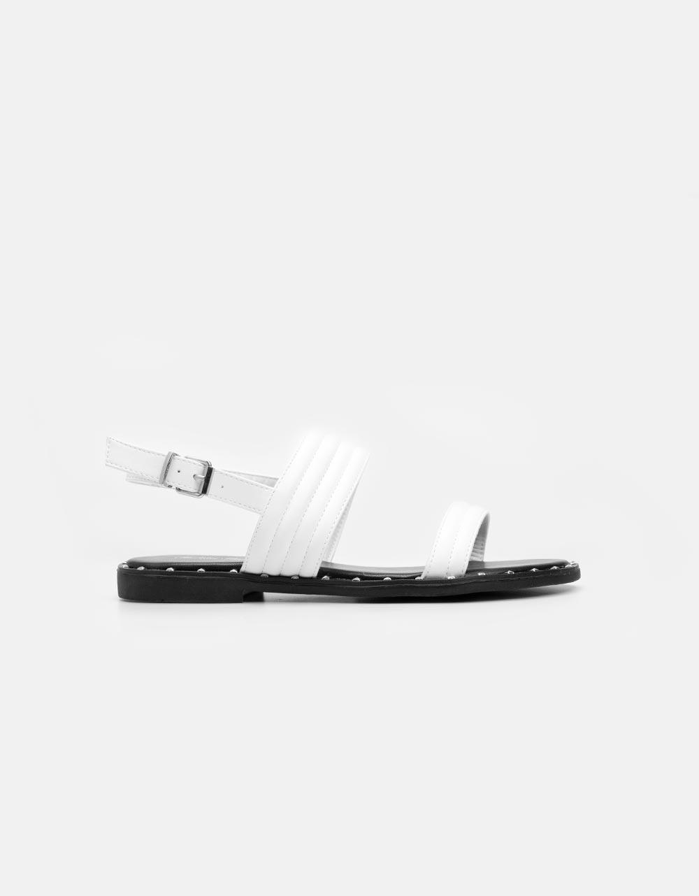 Εικόνα από Γυναικεία σανδάλια με παράλληλες φάσες Λευκό