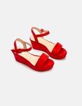 Εικόνα από Γυναικείες πλατφόρμες μονόχρωμες Κόκκινο