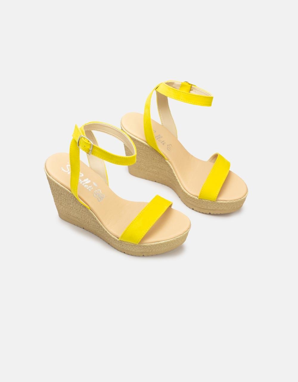 Εικόνα από Γυναικείες πλατφόρμες με λουράκια Κίτρινο