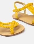 Εικόνα από Γυναικεία σανδάλια με πλέξη Κίτρινο