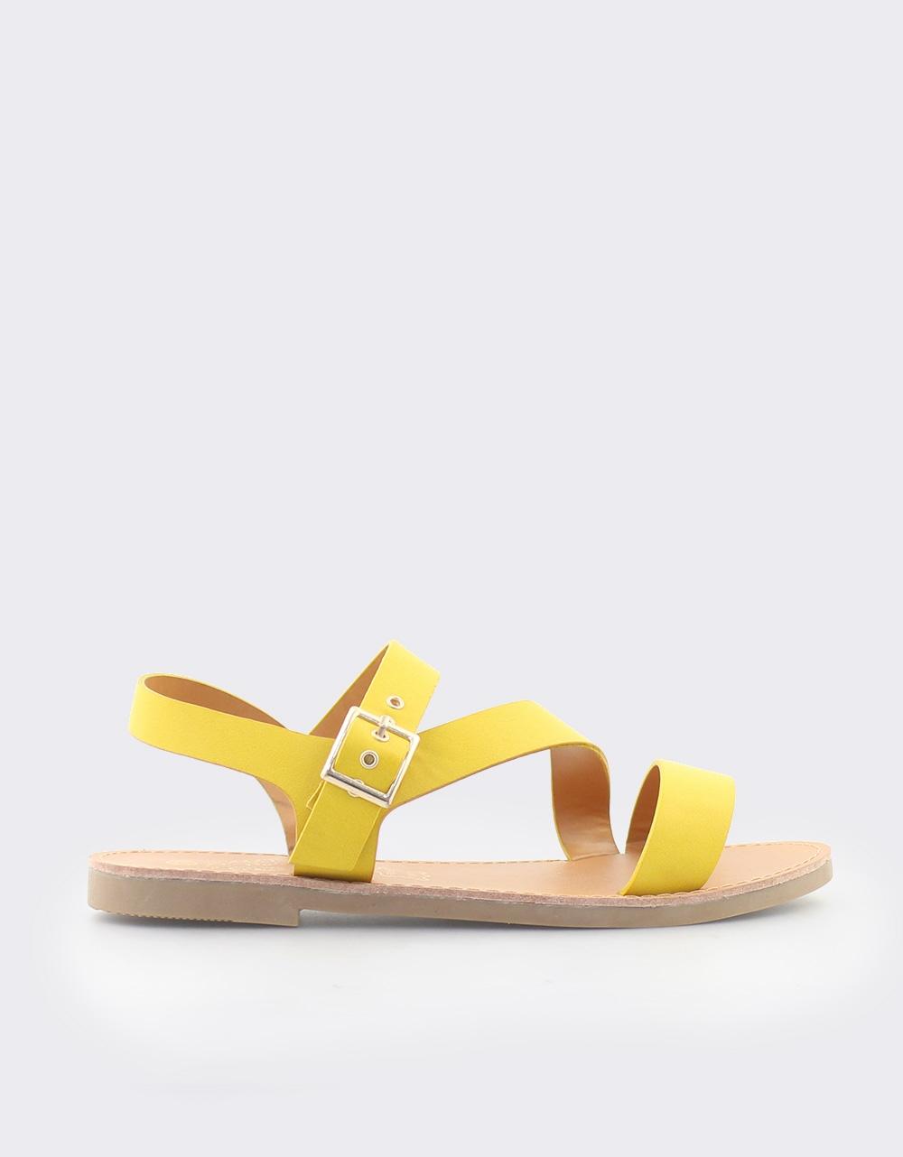 Εικόνα από Γυναικεία σανδάλια μονόχρωμα Κίτρινο