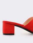 Εικόνα από Γυναικεία mules με καρέ τακούνι Κόκκινο