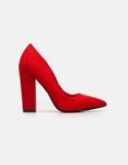 Εικόνα από Γυναικείες γόβες μυτερές μονόχρωμες Κόκκινο