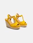 Εικόνα από Γυναικείες εσπαντρίγιες με T-Strap Κίτρινο