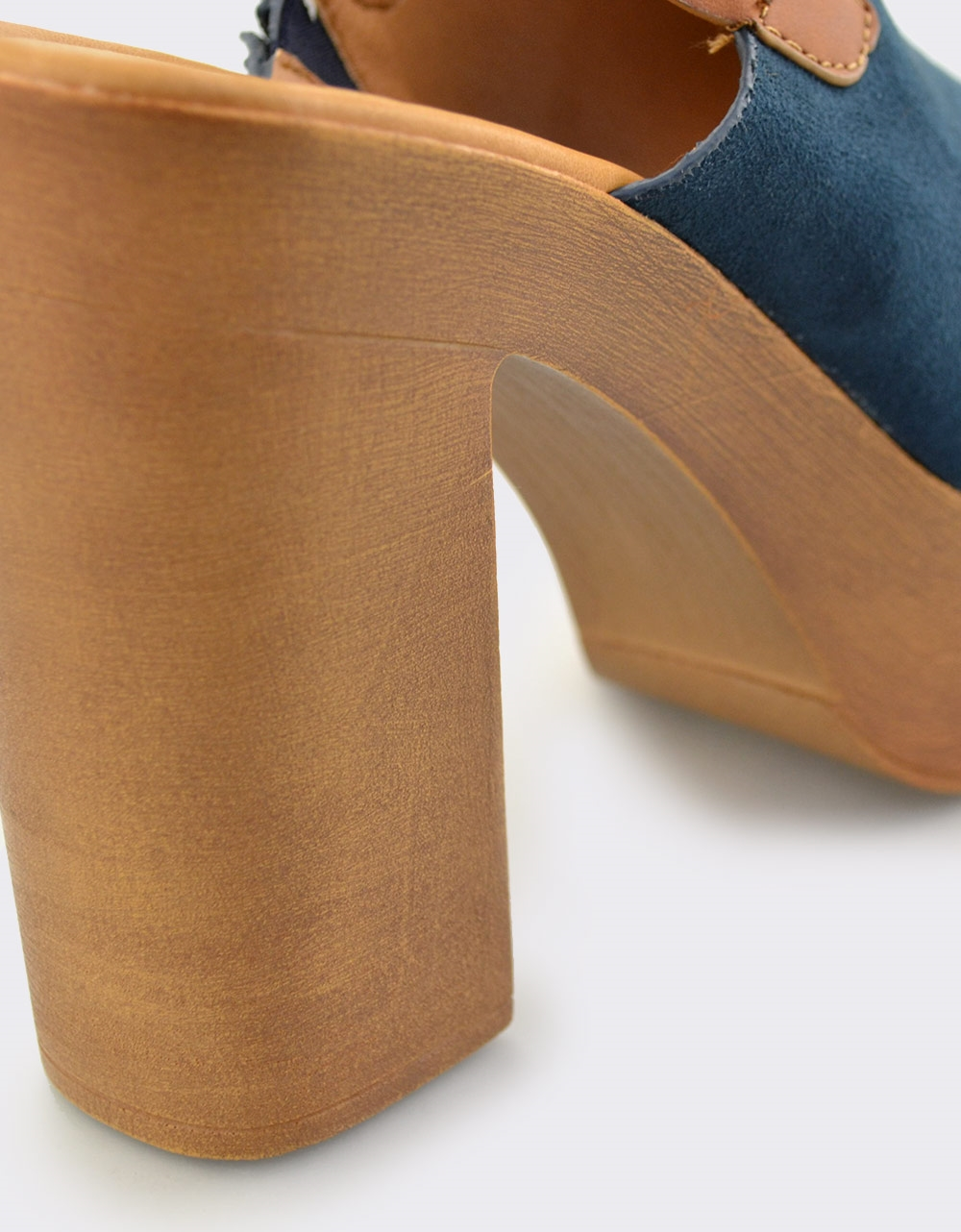 Εικόνα από Γυναικεία πέδιλα peep toe με φιάπα Navy