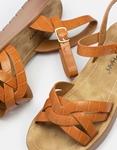 Εικόνα από Γυναικεία σανδάλια με χιαστί λουράκια Ταμπά