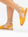 Εικόνα από Γυναικεία σανδάλια lace up Κίτρινο