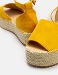 Εικόνα από Γυναικείες εσπαντρίγιες suede με δέσιμο στον αστράγαλο Κίτρινο