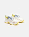 Εικόνα από Γυναικεία sneakers με ανάγλυφα σχέδια Λευκό/Κίτρινο