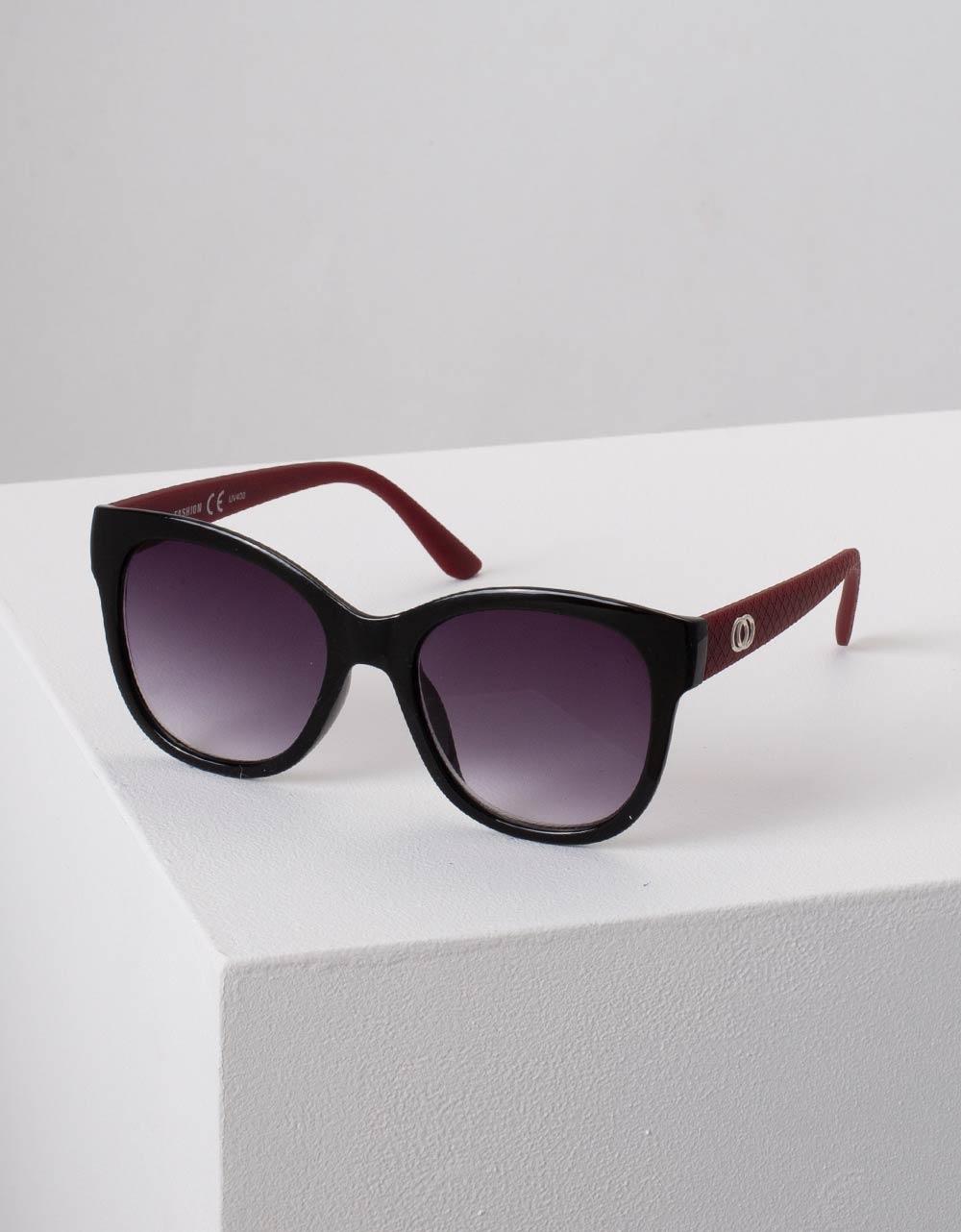 Εικόνα από Γυναικεία γυαλιά ηλίου στρογγυλά Μπορντώ