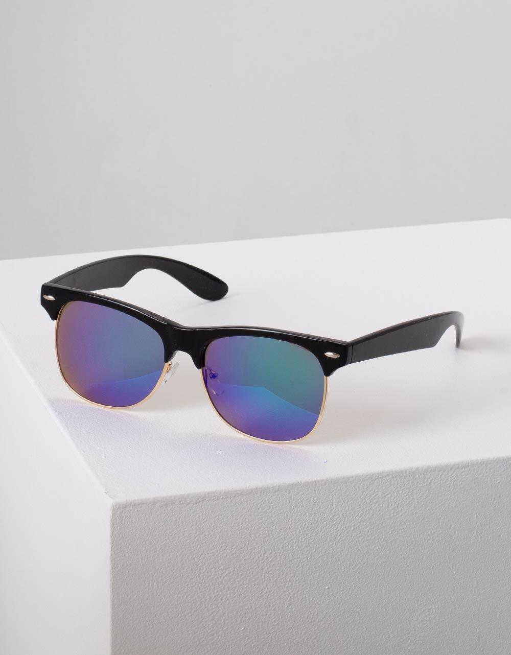 Εικόνα από Γυναικεία γυαλιά ηλίου με καθρέφτη στο φακό Μαύρο