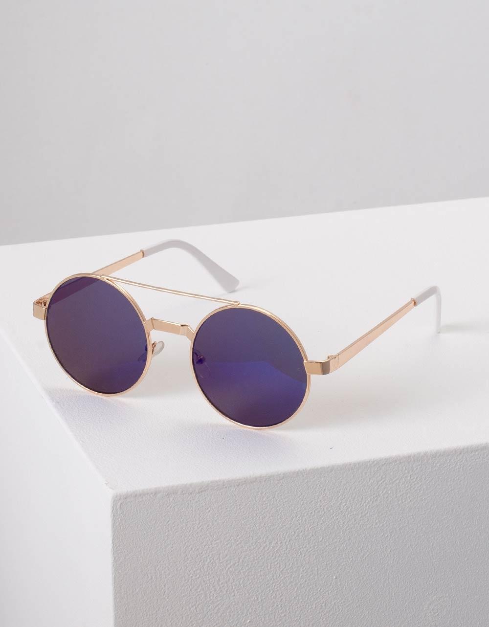 Εικόνα από Γυναικεία γυαλιά ηλίου στρογγυλά Μπλε
